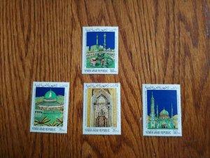 RARE PALESTINE YEMEN 03 MUSLIM HOLY PLACES STAMP SET MNH