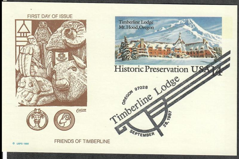 US Collins FDC SC#UX119 Timberline Lodge