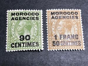 Great Britain Offices in Morocco Scott 420-21 Mint OG CV $29.50