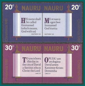 Nauru 1981 Christmas, MNH  236-239,SG248-SG241