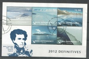 2012 ROSS DEPENDENCY - SG: MS138 - LANDSCAPES -  USED MINI SHEET