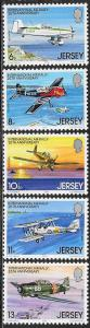 Jersey MNH 208-12 Air Rally Planes 1979
