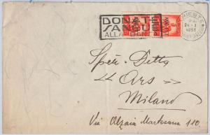 ITALY -  POSTAL HISTORY -  COVER with nice postmark - MEDICINE / BLOOD DONOR