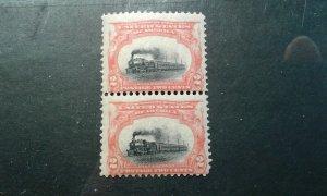 US #295 mint hinged pair e201.6498