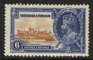TRINIDAD & TOBAGO SG241c 1935 6c SILVER JUBILEE LIGHTNING CONDUCTOR MTD MINT