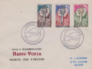 Upper Volta 30F, 40F and 50F Elephant Mask and Elephant 1960 Premier Jour, Ou...