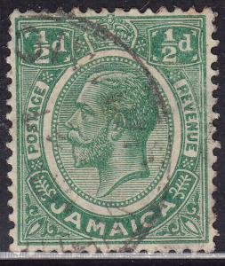 Jamaica 101 Hinged 1921 King George V ½d