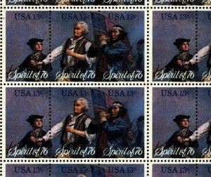 US Scott 1629-31 Spirit of 76  13c Mint NH Sheet of 50