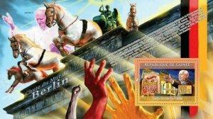 Fall of Berlin Wall Stamp Mikhail Gorbachev Gate of Brandenburg Pope S/S MNH