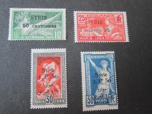 Syria 1924 Sc 166-69 ( a few gum thin) set MH