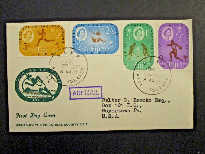Fiji SG# 329 / 333 First Day Cover - Z4345