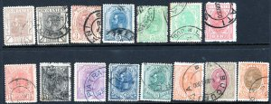 Romania (1893-98) #117-31 used; stamps sound reasonable