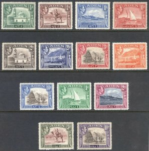 Aden 1939 1/2a-10r GVI Pictorial SG 16-27 Scott 16-27a UMM/MNH Cat £95($122)