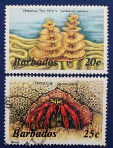 Barbados Scott # 645 & 646 Used (A212)