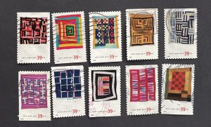 US 2006 American Treasures Series Quilts of Gee's Bend, Alabama 4089-4098 10 sta
