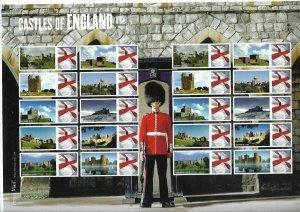 LS59GB 2009 Castles of England Smiler sheet UNMOUNTED MINT/MNH