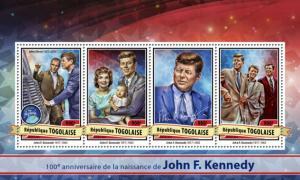 TOGO 2017 SHEET JFK KENNEDY PRESIDENTS tg17117a
