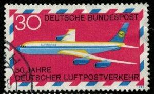 Deutsche BundesPost, Airplane, 30 Pfg (2678-Т)