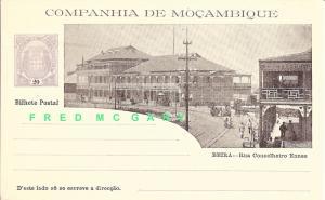1904 Mozambique Company Illustrated 20-Reis Postal Card: Rua Conselheiro Ennes