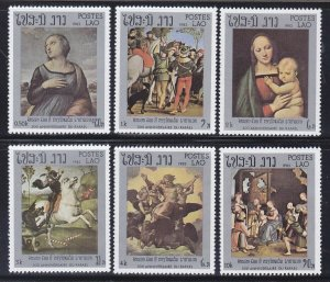 Laos 442-47 MNH 1983 Paintings by Raphael Full Set Very Fine