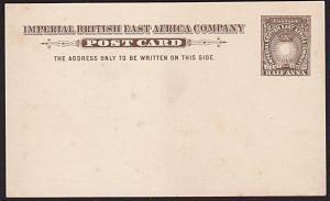 BR EAST AFRICA ½a postcard fine unused......................................9491