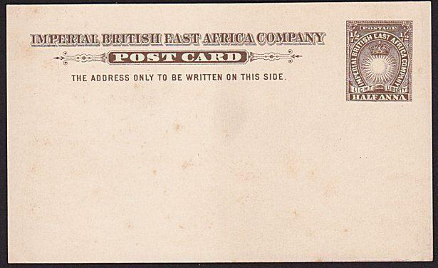 BR EAST AFRICA ½a postcard fine unused......................................9491