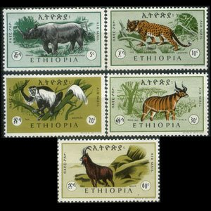 ETHIOPIA 1966 - Scott# C102-6 Animals Set of 5 LH
