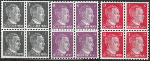 Stamp Selection Germany Block WWII Fascism Hitler War 1 6 12 MNH
