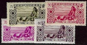 French Polynesia SCV#99-102 Mint F-VF...Worth a Close Look!