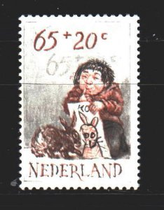 Netherlands. 1982. 1225 from the series. Baby rabbit. MNH.