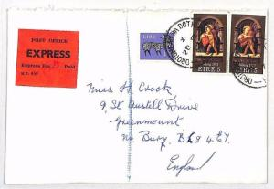 BH186 1977 EIRE Ballsbridge GB Bury Cover EXPRESS FEE
