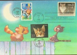HNLP Hideaki Nakano Greeting Card Spay Neuter 3670 Cat I Love You