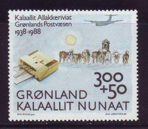 Greenland Scott B13 1988 Post Office Anniversary stamp mint NH