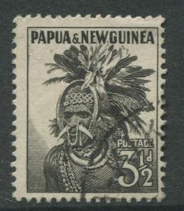 Papua New Guinea- Scott 139 -Pictorial Definitive -1958-FU - Single 3.1/2p Stamp