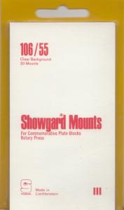 SHOWGARD CLEAR MOUNTS 106/55 (20) RETAIL PRICE $8.35