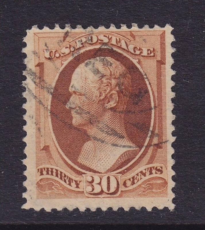 217 VF used neat light cancel with nice color cv $ 100 ! see pic !