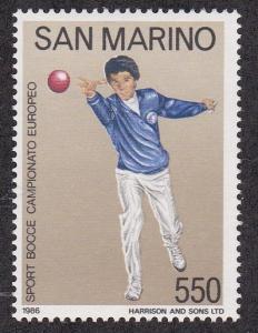 San Marino # 1115, European Bocce Championships, NH, 1/2 Cat.