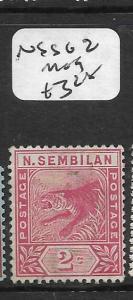MALAYA  NEGRI SEMBILAN   (P1007B)  TIGER 2C  SG 2  MOG