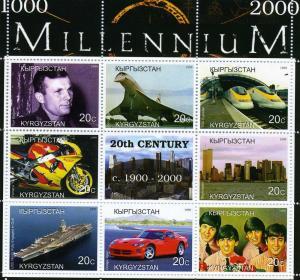 Kyrgyzstan 1999 Millennium 20th.Century 1900-2000 sheet perforated mnh.vf #3