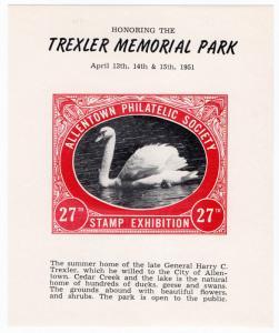 (I.B) US Cinderella : Allentown Philatelic Society Exhibition 1951 (Swan)