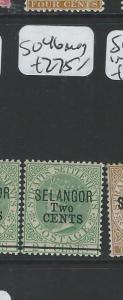 MALAYA SELANGOR (P0906B) QV 2C/24   SG46  MOG