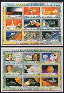 Sierra Leone 1167-1170 Exploration of Mars Souvenir Sheets