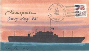 USS Saipan LHA  2  US Navy  Navy Day Rogak Cover