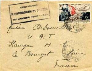 French Equatorial Africa 15F Savorgnana De  Brazza 1952 Pointe Noire, Afrique...