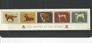TUVALU  2012 DOGS SCOTT 226 BLOCK  MNH