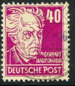 GERMANY RUSSIAN OCCUPATION 1948 40pf Gerhart Hauptmann Issue Sc 10N40 VFU