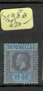 SEYCHELLES  (P2705B)   KGV 1.5R    SG  98A     MOG