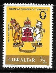 Gibraltar 437: 0.5p Gibraltar Chamber of Commerce, MH, VF