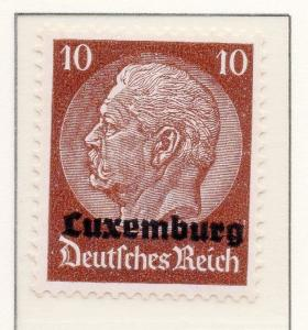 Luxembourg 1940 Early Occupation Issue Fine Mint Hinged 10c. Optd 150929
