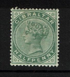 Gibraltar SG# 8, Mint Hinged, Hinge Remnant, Dull Green - Lot 052117